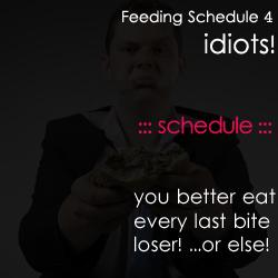 Feeding Schedule 4 idiots
