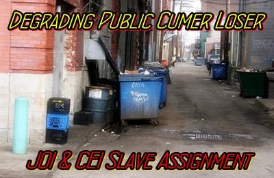 Degrading Public Cumer Loser
