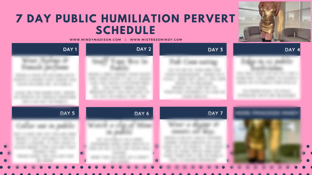 7 Day Public Humiliation Tasks